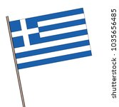 flag of greek  isolated on a... | Shutterstock .eps vector #1035656485