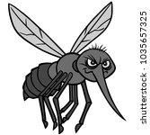 mosquito attack illustration  ...   Shutterstock .eps vector #1035657325