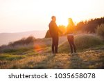 beautiful young couple at... | Shutterstock . vector #1035658078