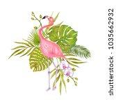 watercolor marker illustration... | Shutterstock . vector #1035662932