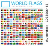 all world flags set   new... | Shutterstock .eps vector #1035666466