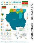 suriname  infographic map and... | Shutterstock .eps vector #1035666472
