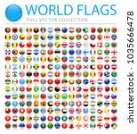 all world flags set   new... | Shutterstock .eps vector #1035666478