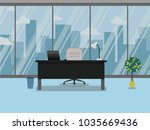 office workplace with table ... | Shutterstock .eps vector #1035669436