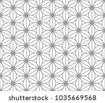 traditional japanese geometric... | Shutterstock .eps vector #1035669568