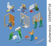 home repair isometric icons set ... | Shutterstock .eps vector #1035669718