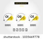 three yellow infographic...   Shutterstock .eps vector #1035669778