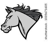 mustang mascot illustration   a ...   Shutterstock .eps vector #1035671605
