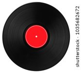 black vinyl record with bright... | Shutterstock . vector #1035682672