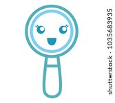 magnifying glass icon  | Shutterstock .eps vector #1035683935
