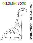 cute dino coloring book.   Shutterstock .eps vector #1035688552
