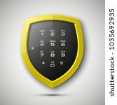 shield with electronic... | Shutterstock . vector #1035692935
