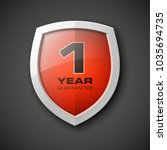 shield with a text guarantee... | Shutterstock . vector #1035694735