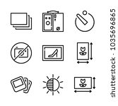 icons camera with camera box ... | Shutterstock .eps vector #1035696865