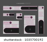 six web banners standard sizes... | Shutterstock .eps vector #1035700192