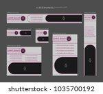 six web banners standard sizes... | Shutterstock .eps vector #1035700192