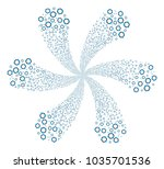 cooperation curl flower with... | Shutterstock .eps vector #1035701536