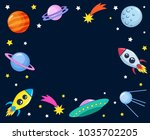 cute colorful background... | Shutterstock .eps vector #1035702205