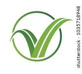 grass like letter c | Shutterstock .eps vector #1035718948