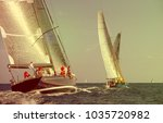 sailing yacht race. yachting.... | Shutterstock . vector #1035720982