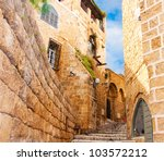narrow stone streets of ancient ... | Shutterstock . vector #103572212