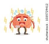 brain character under pressure  ... | Shutterstock .eps vector #1035729412