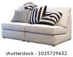white sofa ikea kivik with...   Shutterstock . vector #1035729652