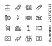 icons camera with washing...   Shutterstock .eps vector #1035737185