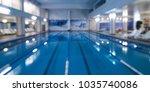 indoor swimming pool in blur... | Shutterstock . vector #1035740086