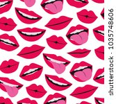 sensuality lips with tongue out ... | Shutterstock .eps vector #1035748606