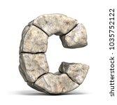 stone font letter c 3d render... | Shutterstock . vector #1035752122