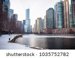 chicago downtown residential... | Shutterstock . vector #1035752782