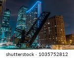 old closed kinzie bridge in... | Shutterstock . vector #1035752812