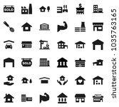 flat vector icon set   house...   Shutterstock .eps vector #1035763165