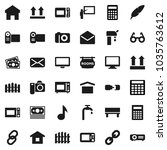 flat vector icon set  ... | Shutterstock .eps vector #1035763612