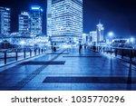 night view of empty brick...   Shutterstock . vector #1035770296
