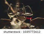 a glass of wine with best...   Shutterstock . vector #1035772612