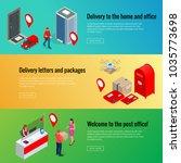 post horizontal banners set... | Shutterstock .eps vector #1035773698