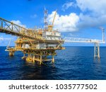 offshore oil and gas central... | Shutterstock . vector #1035777502