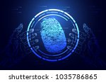 abstract technology cyber... | Shutterstock .eps vector #1035786865