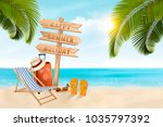 summer vacation background.... | Shutterstock .eps vector #1035797392