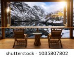 beautiful landscape at cafe... | Shutterstock . vector #1035807802