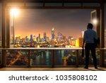 young entrepreneurial vision ... | Shutterstock . vector #1035808102