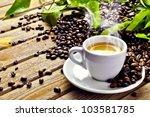 hot cup of coffee | Shutterstock . vector #103581785