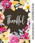 thanksgiving card background... | Shutterstock . vector #1035821416