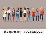 women different profession... | Shutterstock .eps vector #1035822082
