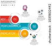 infographic kpi concept with... | Shutterstock .eps vector #1035832492