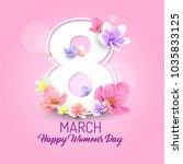 happy womens day vector... | Shutterstock .eps vector #1035833125