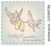 vector vintage wedding card | Shutterstock .eps vector #103583786