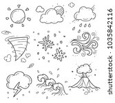 weather icon sketch | Shutterstock .eps vector #1035842116